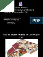 Isopor e Gesso na construção civil