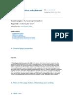 Optimization Advice and Advanced Analysis