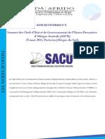 Synthèse du Sommet des Chefs d'Etat et de Gouvernement de l'Union douanière d'Afrique Australe (SACU)