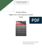 Eseu Goffman-Stigma