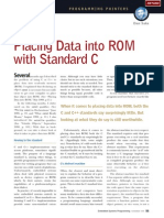 1998-11 Placing Data Into ROM With Standard C