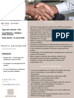 APPEL A CANDIDATURE PROJECT MANAGER KERRIA