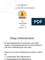 IMAGE AUTHENTICATION TECHNIQUES