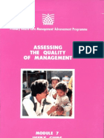 Module 7 User's Guide_Assessing the Quality of Management