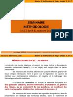 Methodologie de Recherche Pr. Souiah Master 2 a.p.u