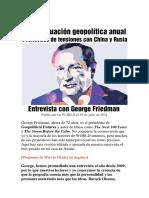 Una evaluación geopolítica anual - George Friedman