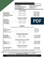 Spring 2011 Schedule