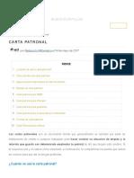 Carta Patronal _ Formatos y Ejemplos