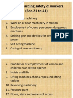 Rules regarding safety of workers