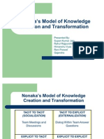 Nonaka's Model of Knowledge Creation and Transformation