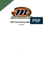 2007 Manitou Fork Service Manual