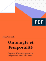 (Épiméthée) Greisch, Jean - Ontologie et temporalité esquisse d'une interprétation intégrale de ''Sein und Zeit-Presses universitaires de France (réédition numérique FeniXX) (1994_1993)