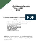 Handbook of Chemoinformatics-From Data to Knoledge