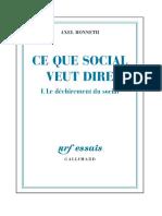 Axel Honneth - Ce que social veut dire-Editions Gallimard (2013)