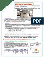 08-La Puissance Électrique Cours Prof.flyh