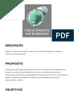 Unidade 2 - Crescimento Microbiano