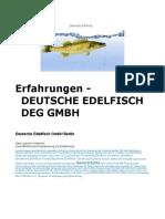 Erfahrungen - Deutsche Edelfisch GmbH