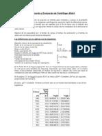 Comparación y Evaluación de Centrifugas Batch