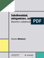 Massimo Modonessi Subaltern Id Ad Autonomia