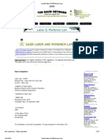 Saudi Labor & Workmen Law