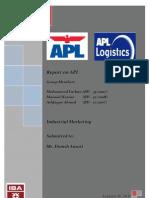 Industrial Marketing - Term Report - APL Pakistan - Ashfaque - Masood - Farhan