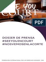 Dosier de Prensa #SeeYouInCourt