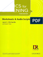 Tactics for Listening 3rd Basic Worsheet & Audio