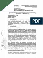 Oficio fiscal de incorporación de investigados en caso contra Vladimir Cerrón