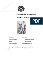 crim A procedure reading list  2010