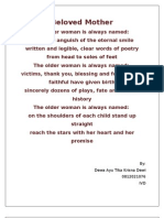 Beloved Mother (final poem)