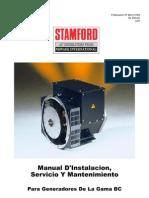Instalación y Mantenimiento generador BC
