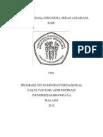 Peranan Bahasa Indonesia Sebagai Bahasa Ilmu