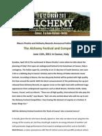 Mauro Picotto Alchemy Festival-line-ups-updated - Press Release