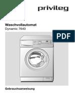 Dynamic 7640 Waschmaschine