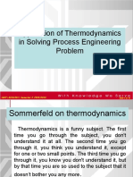 ECH4301-Wk5  Application of Thermodynamics in process engineering