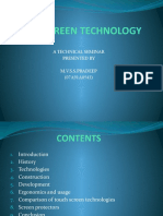 Touch screen technology(ppt)