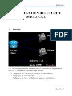TP5-Configuration de securite sur le CME
