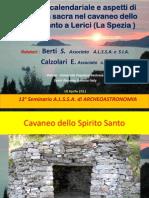 Geometria Sacra Aspetti Di Geometria Sacra e Funzione Calendariale Nel Cavaneo Dello Spirito Santo 10 Apr 2011