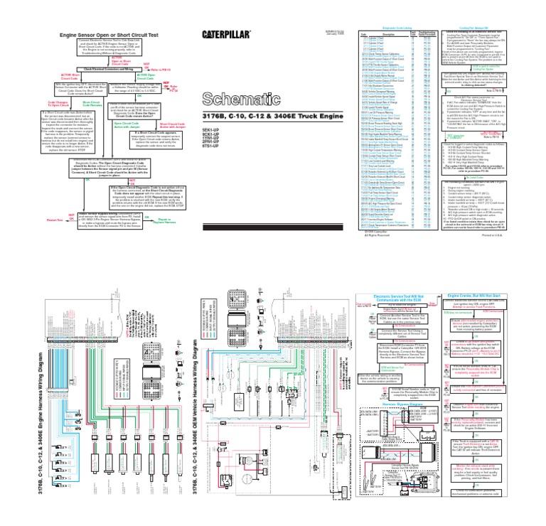 diagrama 3406e turbocharger throttle rh scribd com 1996 Peterbilt 379 Wiring Diagram Wiring Diagrams for Peterbilt Trucks