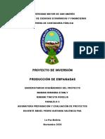 PDF Proyecto de Empanadas