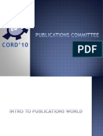 1st Introduction to Publications World General CORD' 10
