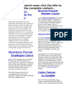 Cancer Research Summary