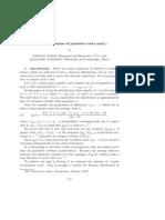 distribution of the primitive roots mod p