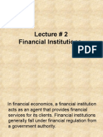 finanial institutions