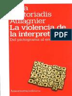 La Violencia de La Interpretacion Piera Aulagnier