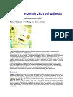 Tipos de Solventes y Sus Aplicaciones