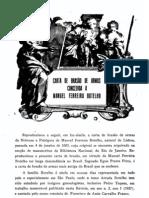 Páginas do antigo Inst. Heráldico-Gen. - Carta de Brasao de Manoel Ferreira Botelho