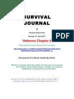 Survival Journal Hebrews Chapter 4 10.4