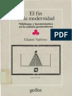 g Vattimo El Fin de La Modernidad. Nihilismo y Hermeneutica en La Cultura Posmoderna[1]