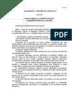 Proiectul de lege pentru modificarea Codului de exec